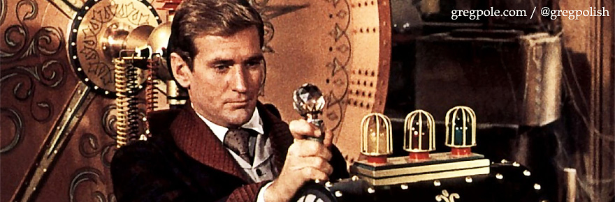 Rod Taylor in the movie The Time Machine