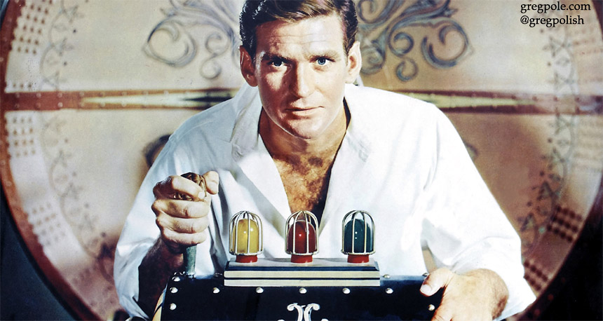 Rod Taylor in movie The Time Machine
